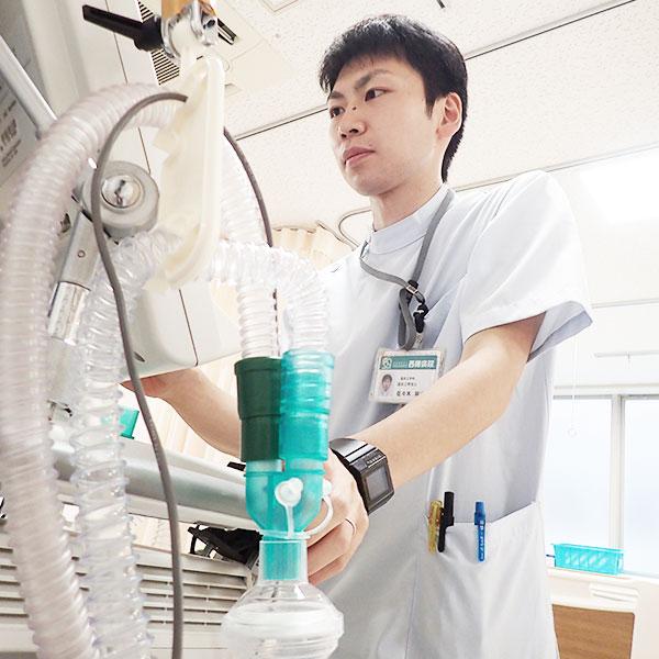 西陣病院、呼吸療法業務 画像