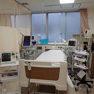 西陣病院、集中治療業務 画像