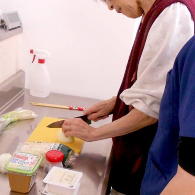 西陣病院、▲調理動作練習