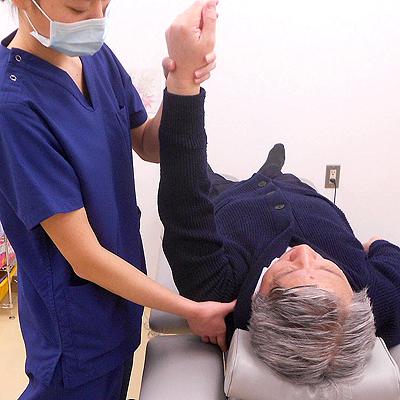 西陣病院、▲関節可動域練習