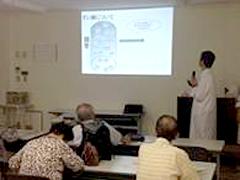 西陣病院、実務実習生による糖尿病教室